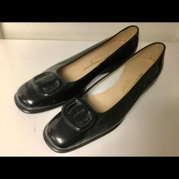 Salvatore Ferragamo Shoes - Salvatore Ferragamo patent leather flats size 7.5